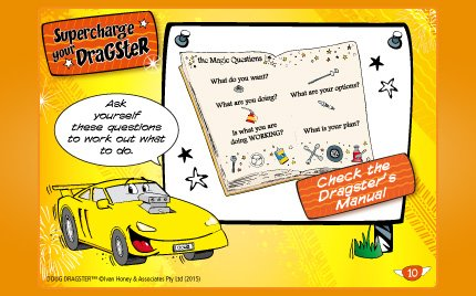 3. Supercharge Your Dragster Card Set