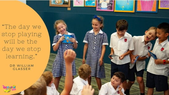 Having fun with The Get Happier Toolbox Cards at Moama Grammar
