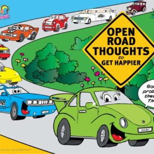 Open Road Thoughts to Get Happier Card