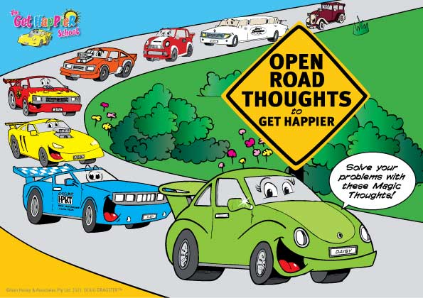 Open Road Thoughts to Get Happier Cards
